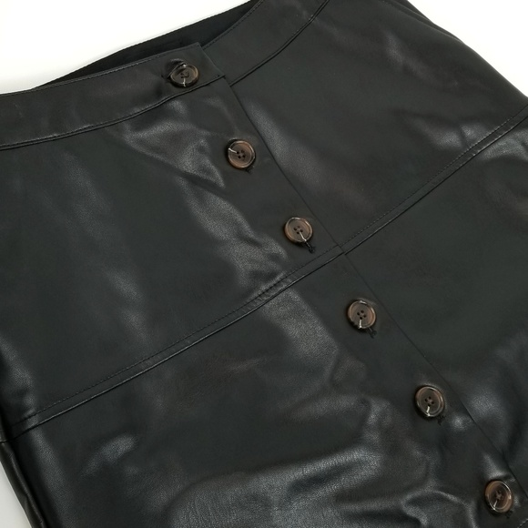 Who What Wear Dresses & Skirts - Who What Wear faux leather button front midi skirt